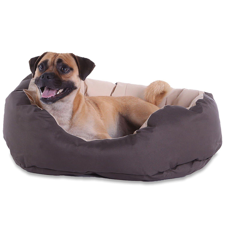 lit pour chien coussin pour chien canap pour chien lavable avec coussin r versible french. Black Bedroom Furniture Sets. Home Design Ideas